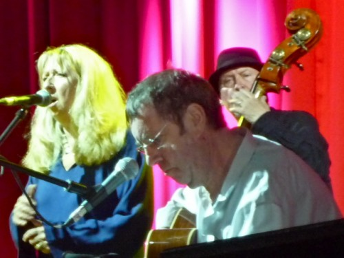 Bert Jansch (centre) performing with Pentangle at Glastonbury 2011