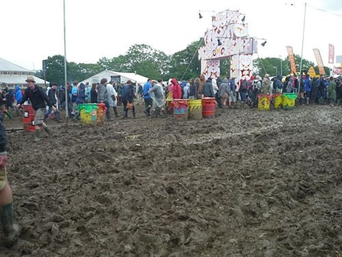 Glastonbury 2011's mud. Will it return for 2014?