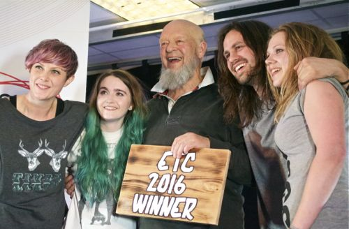 ETC 2016 winners She Drew The Gun (pic by Joe Lepper)