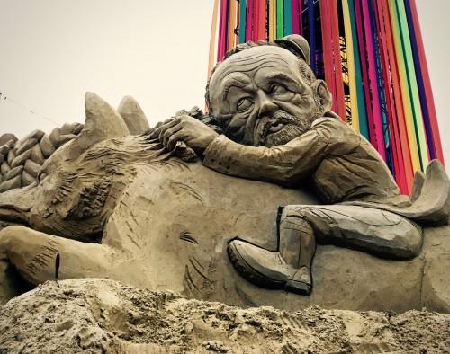 Jeremy Corbyn Sand Sculpture