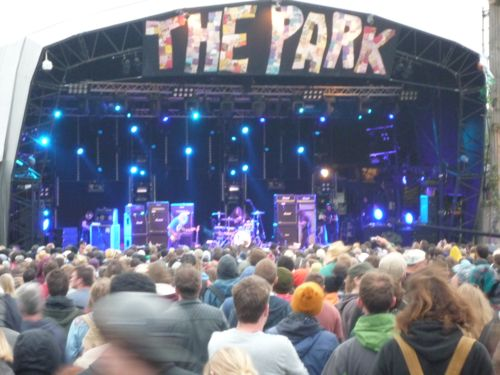 The Park stage, featuring Dinosaur Jr
